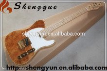 L Shengque Electric Guitar TL Style Guitar Burl Top guitar Chinese Guitar
