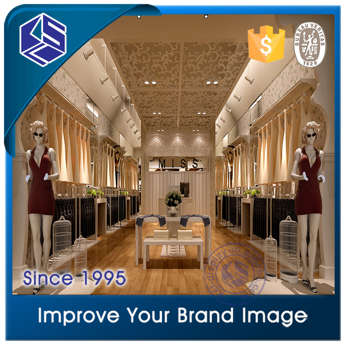 Womenwear interior design, retail garment shop interior design
