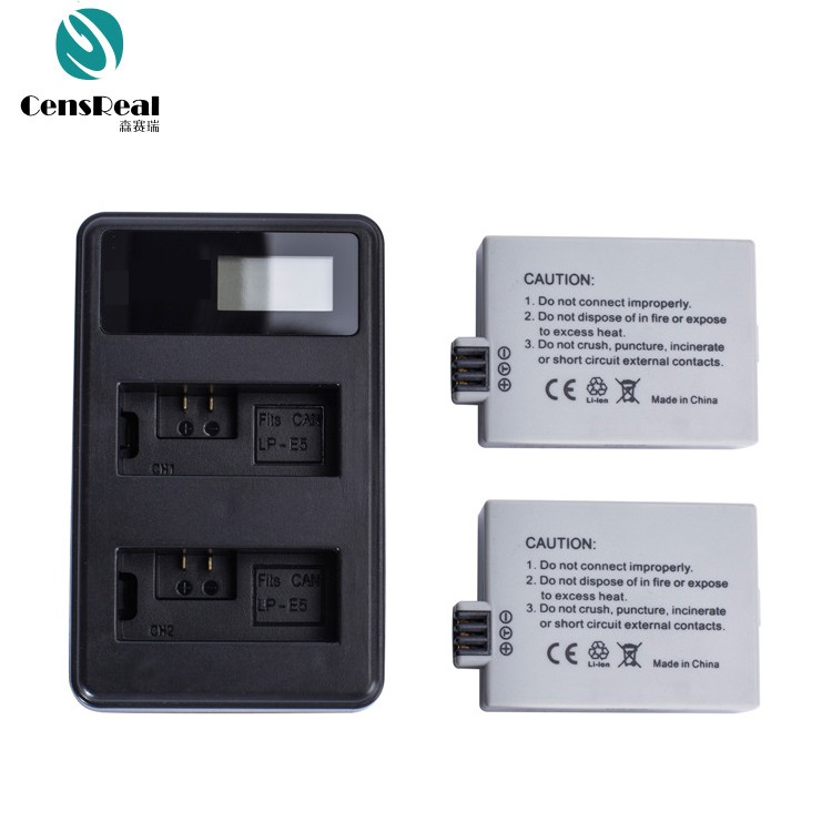 Consumer Electronics Lp-e5 Lcd Dual Port Usb Battery Charger For Canon Eos 1000d 500d 450d Kiss