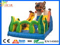 New 2017 en14960 inflatable safari pvc tarpaulin customize african tiger inflateable slide