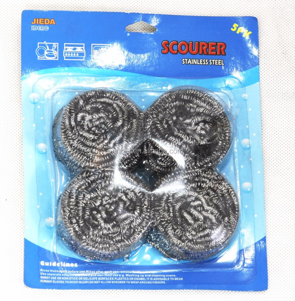 Kitchen essential pot pan stainless steel scrubber souring pad 6pcs