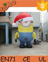 2015 Hot Sale cute inflatable cartoon characters / large inflatable minion / inflatable Despicable Me for advertising