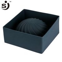 Easy To Demoulding New Style 3D Single Large Spiral Wave Half Ball Silicon Cake Mold For Sale