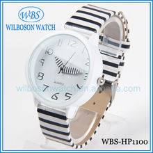 Zebra stripes design most popular ladies quartz watch