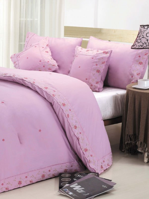 king size fancy embroidered bed cover set polyester microfiber bedding comforter sets luxury