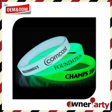 Hot Sell New Style Silicone Bracelet Glow In The Dark Wristband