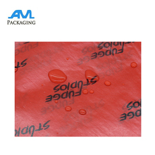 custom size logo design printing color wax waterproof flower gift wrap paper
