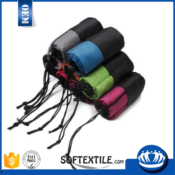 softextile made in china selectable microfiber face towel with mesh bag