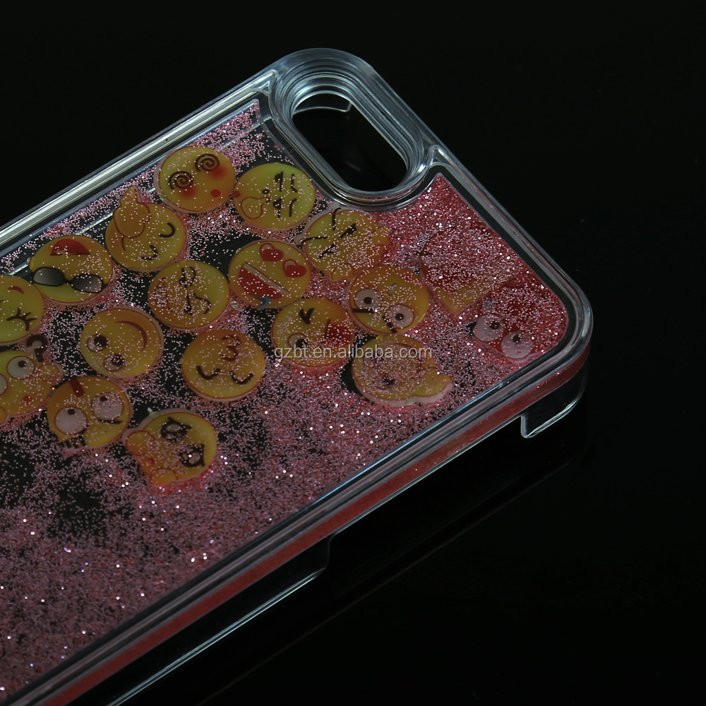 Emoji Face Design Glitter Bling Phone Case Cover for Iphone 6/6plus