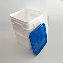 Wholesale 5 gallon white milk container 20L plastic square bucket with high quality