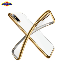 No Bubbles TPU Bumper Case For IPhone X Phone Cover Support Wireless Charging