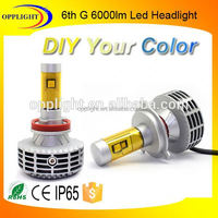 Automobile Led Headlight 6000lm All In