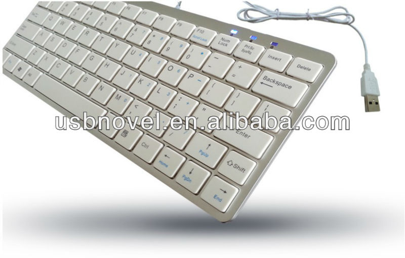 wired USB Slim notebook keyboard with Silent switch