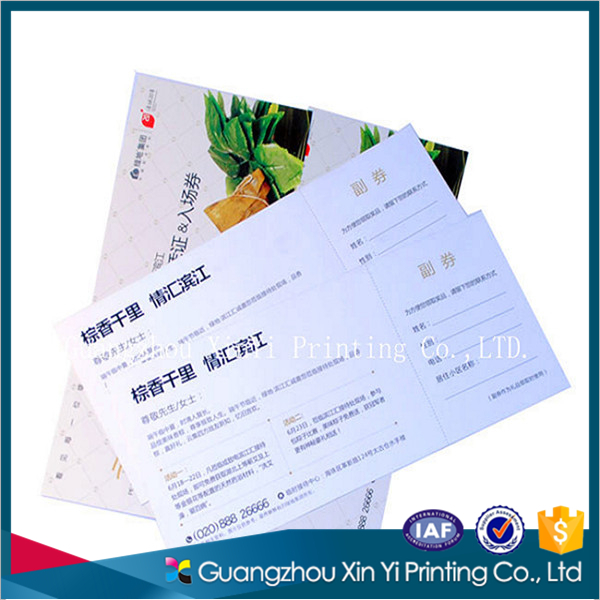 Magnetic customized entrance ticket/card printing supplier