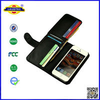 2014 New multifunctional Billfold Wallet Phone Case for iPhone 5 6,Credit ID Card Long Wallet Flip Leather case--Laudtec