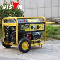 BISON CHINA TaiZhou 4 Stroke Single Cylinder Petrol GREEN MAX Gasoline 6 kw 220v Generator
