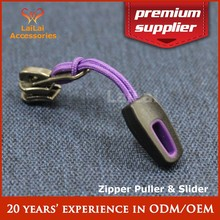 Fashion zipper pulls wholesale with hole tab