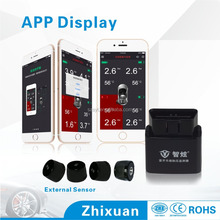 2016 hot sell easy DIY wireless android bluetooth car tpms