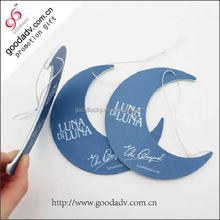 2014 Most popular crescent moon shape hanging car air freshener with special fragrance