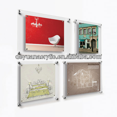 Custom Acrylic Wall Photo Frame with Screw Hold