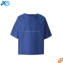 custom high quality 100% combed cotton plain single jersey mens boxy fit t-shirt
