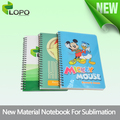 Sublimation notebooks with plastic cover
