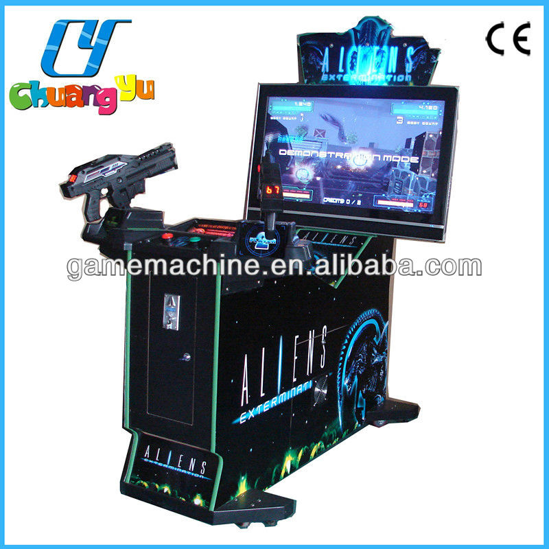Terminator salvation arcade machine, aliens extermination shooting machine for sale