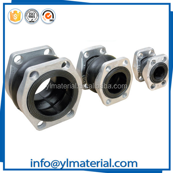 Elbow premolded pressure thrust rubber flexible pipe connector