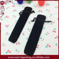 2015 Sale Wholesale China Cheap Drawstring Black Velvet Gift Pen Bags Pouch