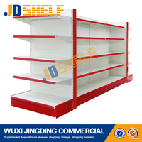 double side metal design retail shop racks and shelves