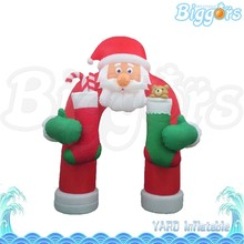 Santa Claus Inflatable Christmas Decoration Arch for Door Advertising