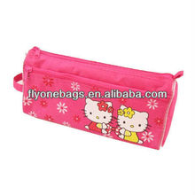 Cute pink Hello Kitty double pencil cases