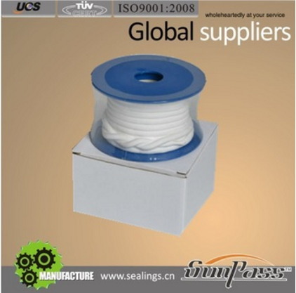 Water Meter Seals Types Of Gland Packing 100% Virgin PTFE Valve Stem Packing