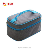 Lunch Boxes with 2 Containers/Cutlery, Tote Box Set with Oxford Thermal Insulated Lunch Cooler Bag Ice Pack Food Carriers