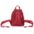 Kangrow Blue Women's Backpacks Women Fashion Backpack Red Solid School Bags for girls