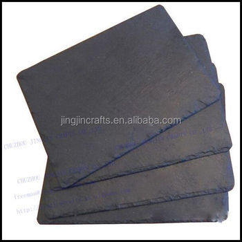 black unique daily used slate placemat