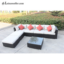 Factory handmade garden furniture outdoor rattan sofa wicker garden sofa on sale