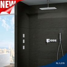 Temperature detectable top shower water jet
