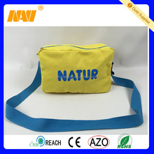 chinese factory produce yellow canvas messenger cross body shoulder bag