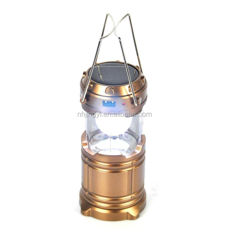 Emergency LED solar rechargeable mobile phone charge 140 lumen hanging lantern