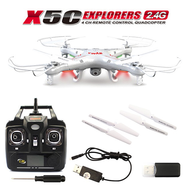 Syma X5C Explorers 2.4G 4CH RC Quadcopter With Camera, Syma X5C