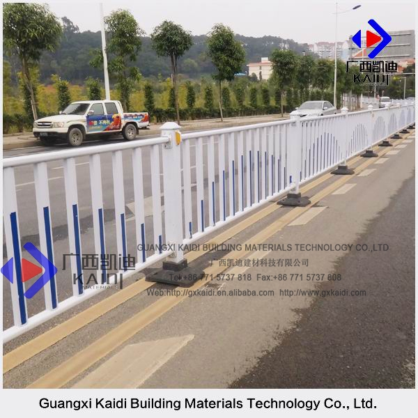 Welding Solid Galvanized Steel Powder Coated Guard Rail