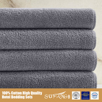 Grey Solid Dyed Color Towel Sets Wholesale Cheap Price, Gym Sauna Hand Towels Picture