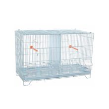 Chinese Powder coated small wire iron foldable bird cage