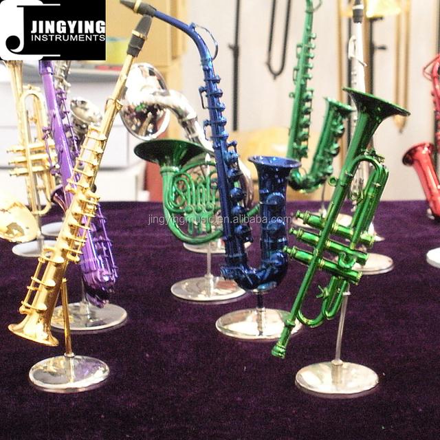 mini trumpet,mini saxophones, minisousaphones, Miniature Brass Wind Musical Instruments