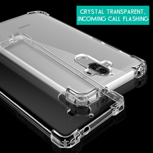 Atouchbo Custom Design Transparent TPU PC Back Shell Cover rugged blank cell phone case for Huawei mate 9