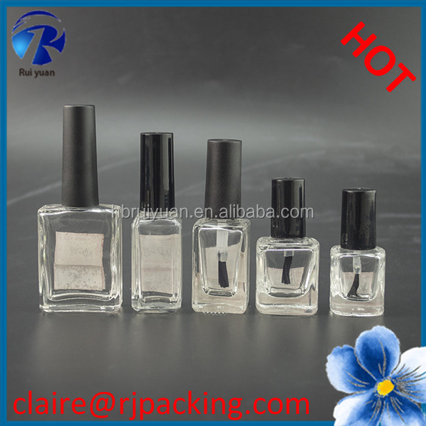 hot sale square glass nail polish bottle on sale
