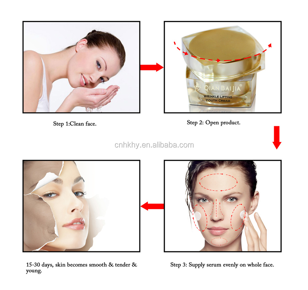 100% natural Cosmetics Anti Aging Cream herbal beauty shine cream skin whitening anti aging cream