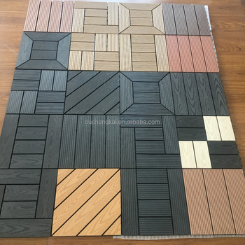 NEW outdoor wpc tile DIY WOOD PLASTIC COMPOSITE DECKING