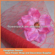 2014 China Popular Floral Mesh Wrap Packaging Material
